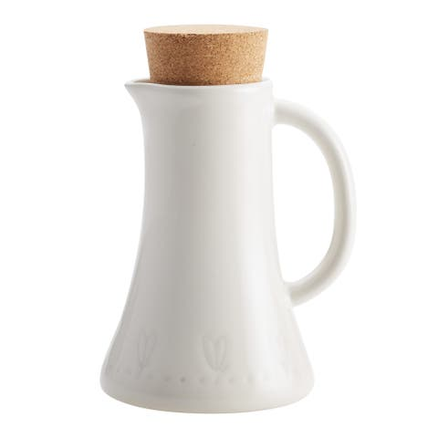 Ayesha Collection Ceramic 4-Ounce Flavor Bottle, French Vanilla