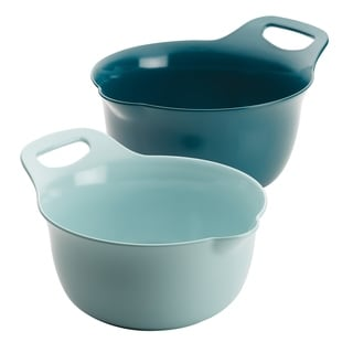 Shop Rachael Ray Cityscapes Ceramic Mixing Bowl Set Light