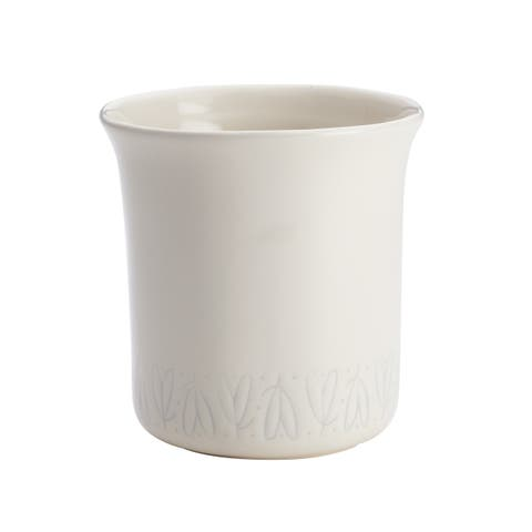 Ayesha Collection Ceramic Tool Crock, French Vanilla