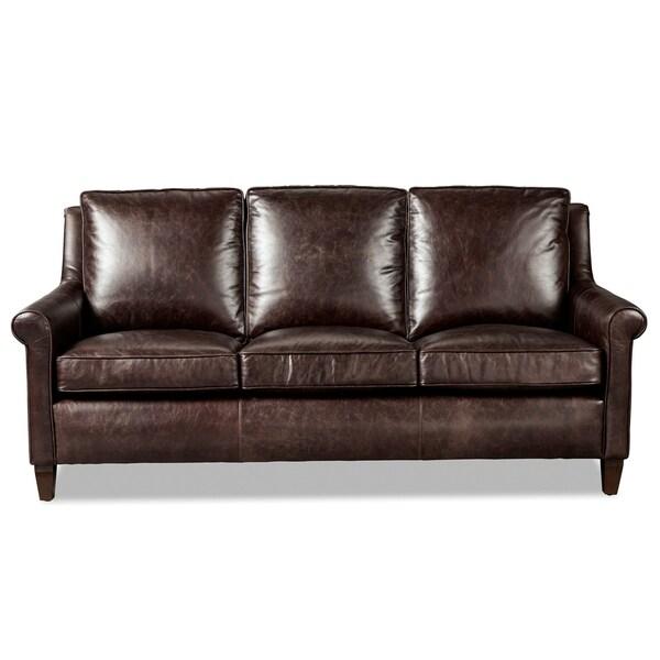 Jericho Dark Brown Leather Sofa