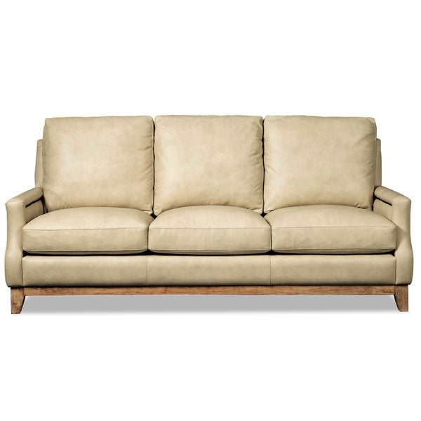 Shop Sullivan Taupe Leather Sofa On Sale Free Shipping Today