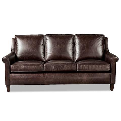 Jericho Dark Brown Leather Queen Sleeper Sofa