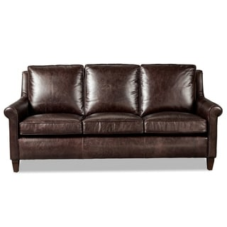 Awesome Jericho Dark Brown Leather Queen Sleeper Sofa Overstock Com Shopping The Best Deals On Sofas Couches Unemploymentrelief Wooden Chair Designs For Living Room Unemploymentrelieforg