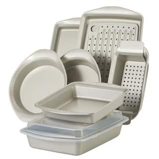 Rachael Ray 10-Piece Nonstick Bakeware Set, Silver