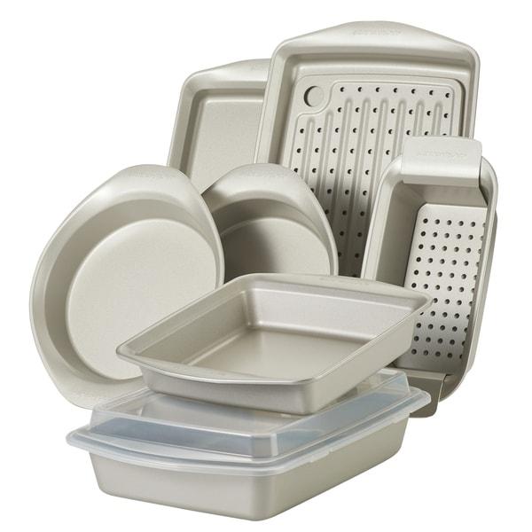 Rachael Ray 10-Piece Nonstick Bakeware Set, Silver. Opens flyout.
