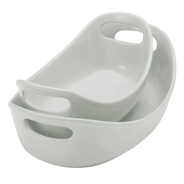 Rachael Ray Ceramics 2-Piece Oval Baker Set