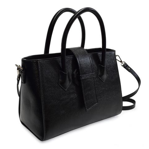 The Alyza Collection Large Satchel with Shoulder Strap