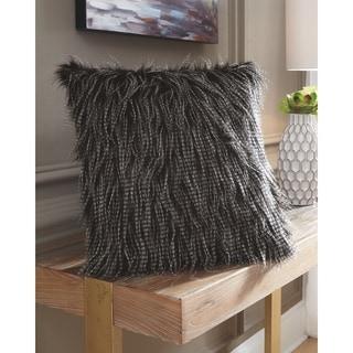 Ryley Faux Fur Black Pillow