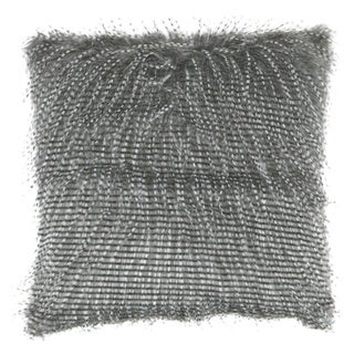 Ryley Black Faux Fur Throw Pillow