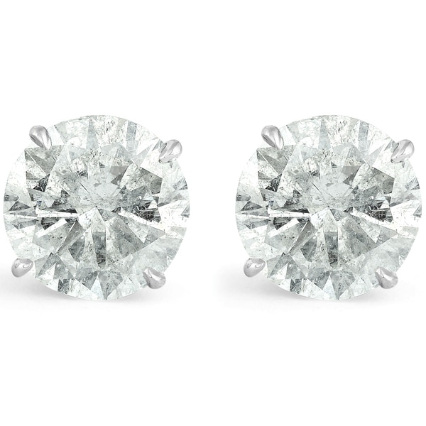 34b8945e6 Shop Bliss 14k White Gold 6.08 Ct TDW Round Diamond Studs Clarity Enhanced  - On Sale - Free Shipping Today - Overstock - 26451977