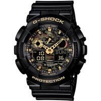 Casio G-Shock XL GA-100CF-1A9 Analog-Digital Watch Black/ Green - N/A