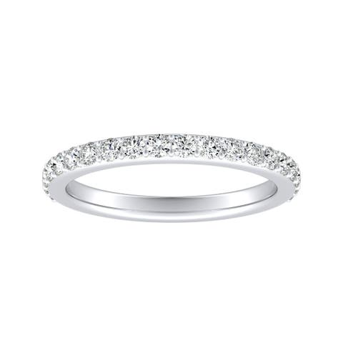 Auriya 3/8ctw Stackable Round Diamond Wedding Band Platinum
