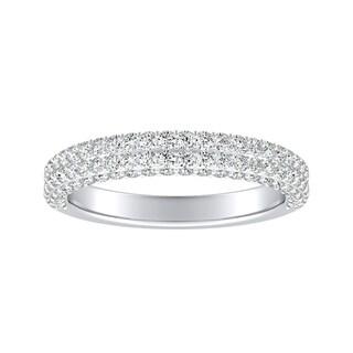 Link to Auriya 3/4ctw Double Edged Pave Diamond Wedding Band Platinum Similar Items in Wedding Rings