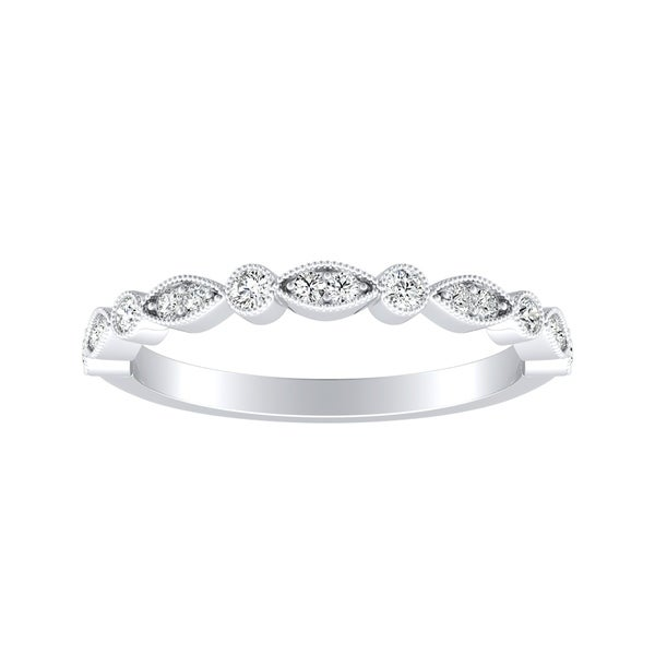Auriya Dainty 1/10ctw Diamond Anniversary Wedding Band Platinum