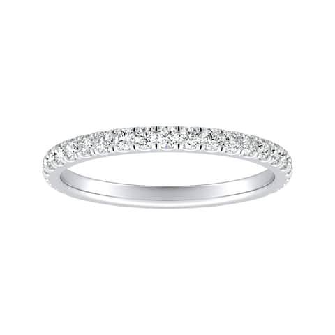 Auriya 1/3ctw Stackable Diamond Wedding Band Platinum