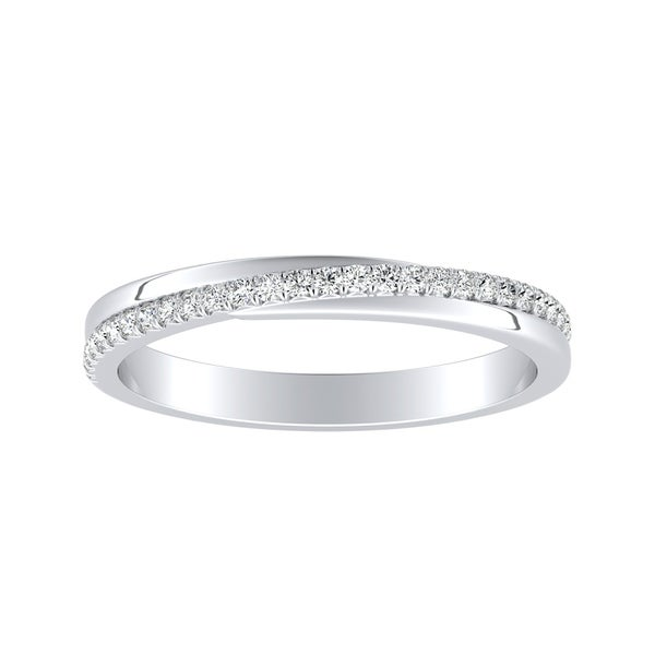Auriya 1/8ctw Round Diamond Wedding Band Platinum