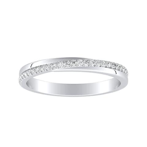 Auriya 1/8ctw Round Diamond Wedding Band 18k Gold