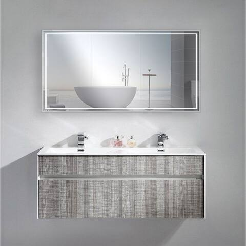 Dahlia LED Mirror with Motion/Touch Sensor