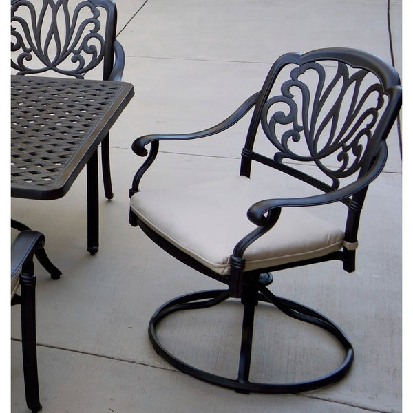 Shop Sierra Madre Patio Swivel Rocker Dining Chairs with ...