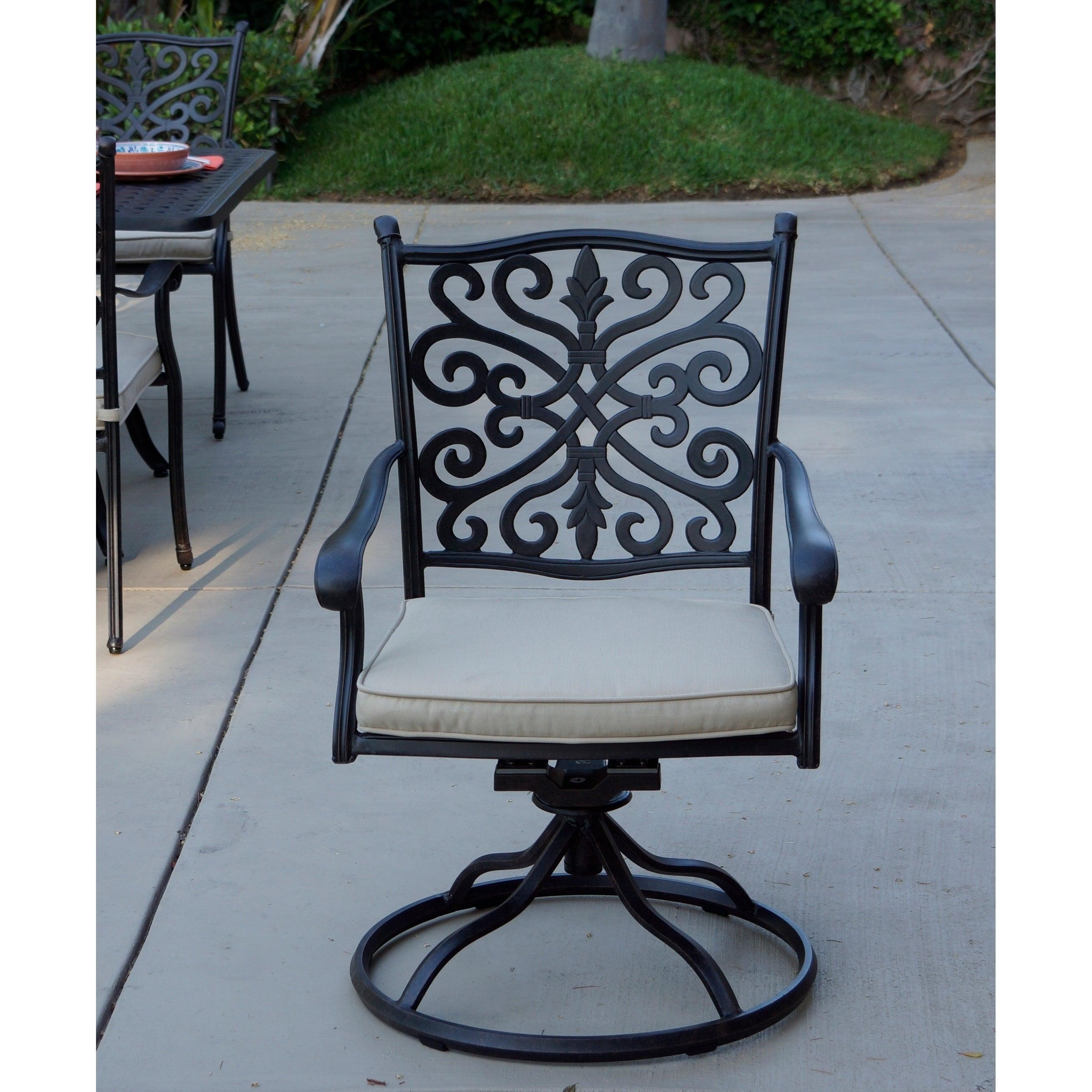 Patio Swivel Rocker Dining Chairs