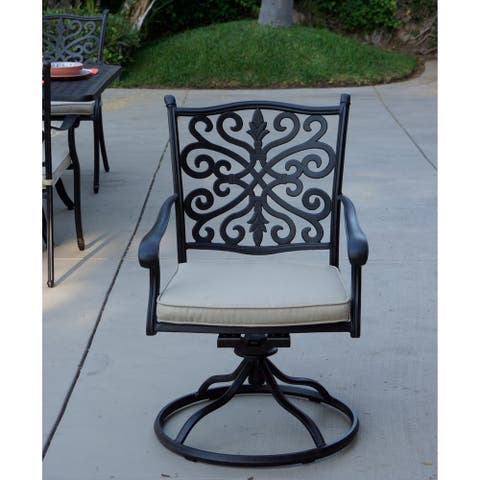 Casablanca Patio Swivel Rocker Dining Chairs with cushion, Set of 4