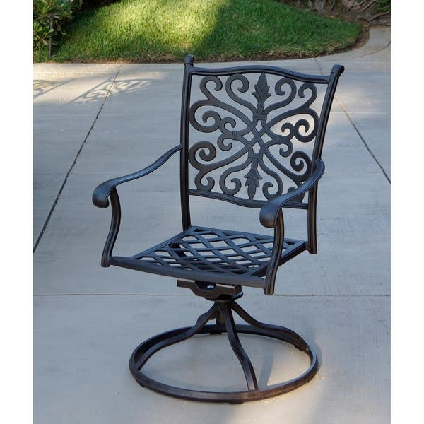 Terrific Shop Casablanca Patio Swivel Rocker Dining Chairs With Caraccident5 Cool Chair Designs And Ideas Caraccident5Info