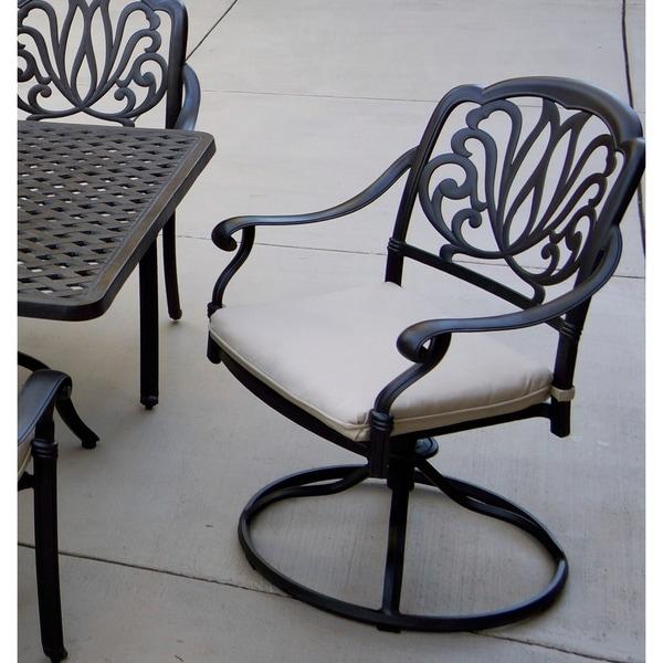 Pleasant Shop Sierra Madre Patio Swivel Rocker Dining Chairs With Download Free Architecture Designs Intelgarnamadebymaigaardcom