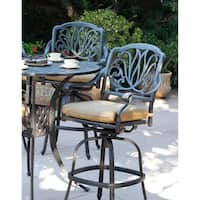 Elisabeth Patio Swivel Bar Stool with Cushion, Set of 6