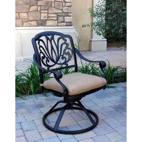 Elisabeth Patio Swivel Rocker Dining Chair with Cushion, Set of 4