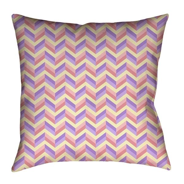 Katelyn Elizabeth Pink & Purple Chevrons Pillow - Poly Twill