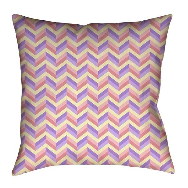Katelyn Elizabeth Pink & Purple Chevrons Indoor/Outdoor Pillow - Waterproof and Mildew Proof