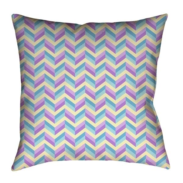 Katelyn Elizabeth Blue & Purple Chevrons Pillow - Faux Suede