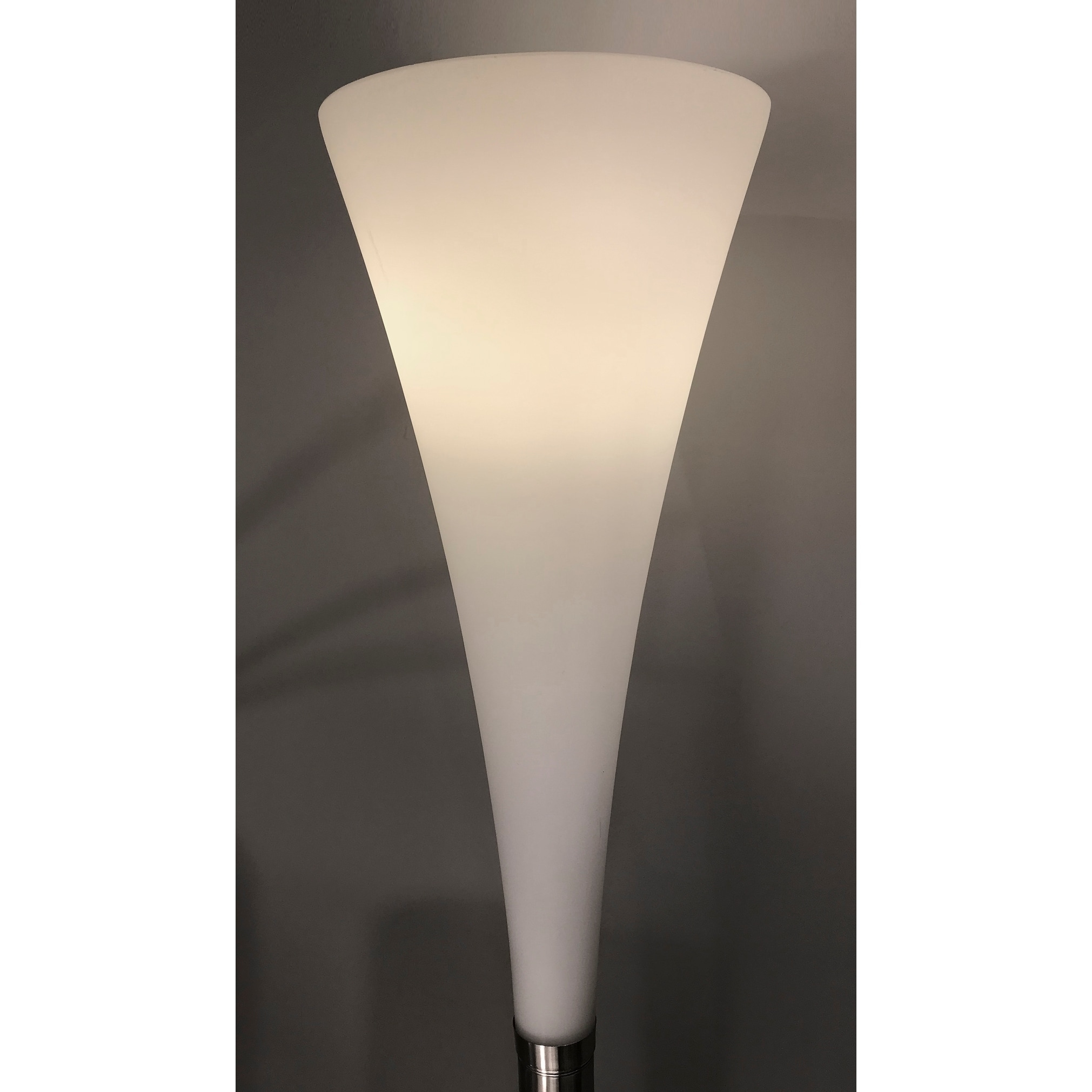 Image of: Shop Black Friday Deals On Adesso Mimosa Satin Steel Torchiere Floor Lamp Overstock 26456278