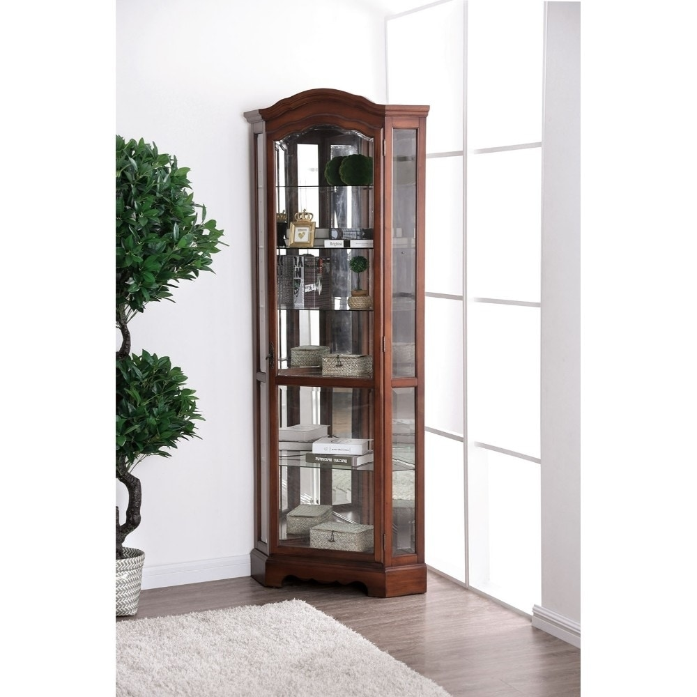 Traditional Brown Wooden Corner Cabinet