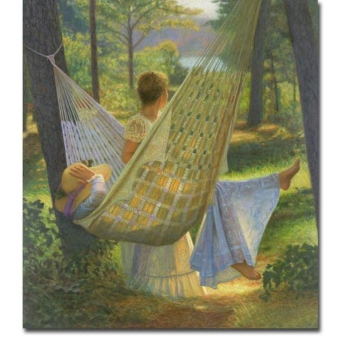 Summertime by Peter Quidley Gallery Wrapped Canvas Giclee Art (20 in x 18 in, Ready to Hang)