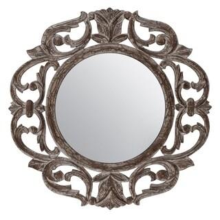 """Alba Grey Carved Mirror 24"""""""
