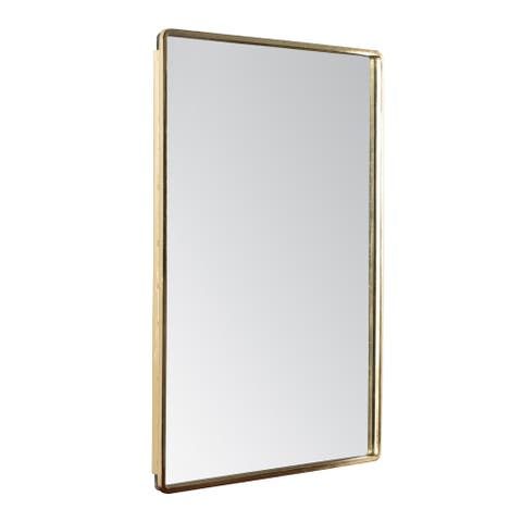 "Salvo Gold Rectangle Mirror 18""X24"" - A"