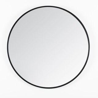 """Vasto Black Round Mirror 24"""" - N/A"""