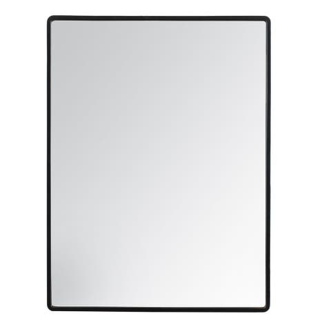 "Salvo Black Rectangle Mirror 18""X24"""