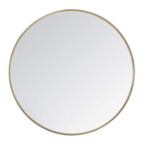 """Vasto Gold Round Mirror 24"""""""