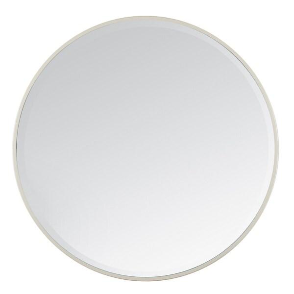 "Asti Ivory Bevelled Round Mirror 36"" - A"