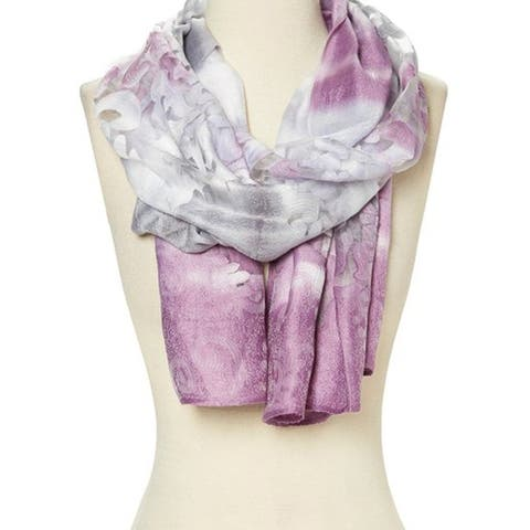 Women Fashion Viscose Lightweight Soft Abstract Winter Wrap Long Scarf - 29'' x 78''