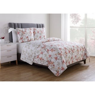 VCNY Home Jasmine Reversible Floral Quilt Set