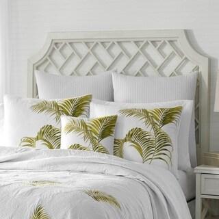 Tommy Bahama Breezeway Palm Green Throw Pillow