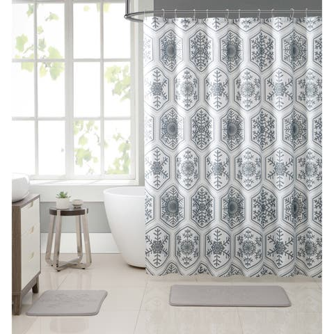 VCNY Home Crystal Snowflake Holiday Bath Set