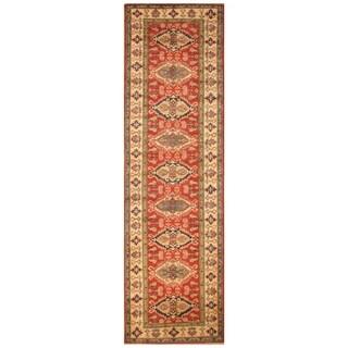 Handmade Kazak Wool Rug (Afghanistan) - 2'10 x 9'6