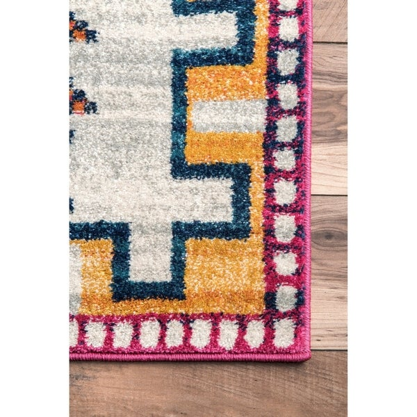 The Curated Nomad Chattanooga Silver Contemporary Southwestern Area Rug - 3' x 5'