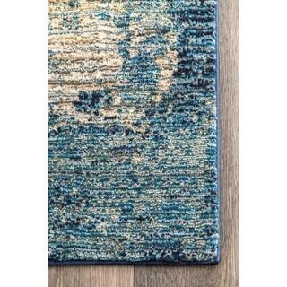"""Porch & Den Baker Blue Abstract Ocean Ombre Area Rug - 6' 7"""" x 9'"""