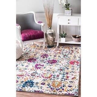 Porch & Den Webb Multicolor Distressed Floral Area Rug - 3' x 5'