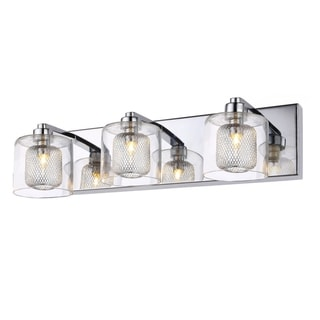 Link to Chrome Metal Wall Sconce with Crystal and glass Shades (As Is Item) Similar Items in As Is